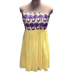 Anthropologie Minuet Strapless dress